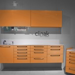 Mobiliario clínico - modelo naranja